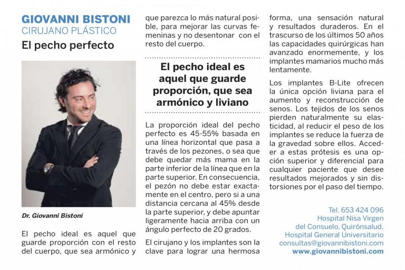 El pecho perfecto, entrevista al Dr Giovanni Bistoni
