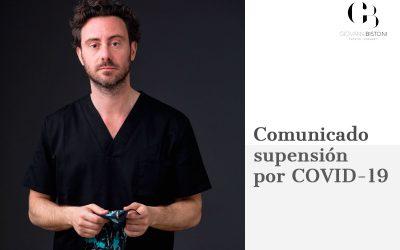 Comunicado suspensión por COVID19